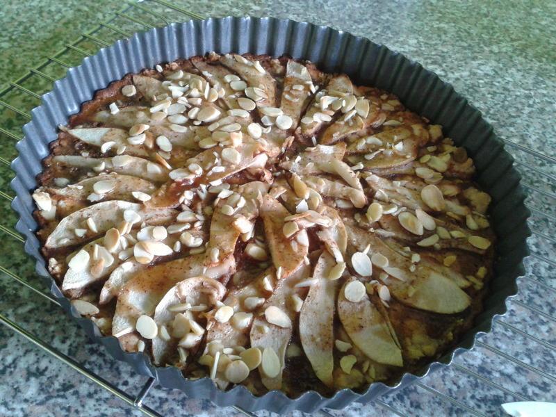 Hruškovo-kávový koláč