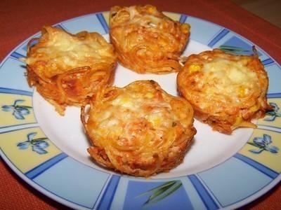 Špagetové muffiny