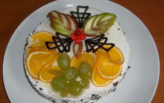 Nepečený dort s piškoty