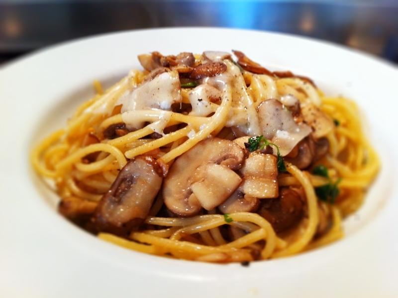 Houbové špagety