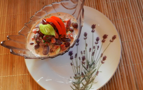 Fazolový salát s kapií