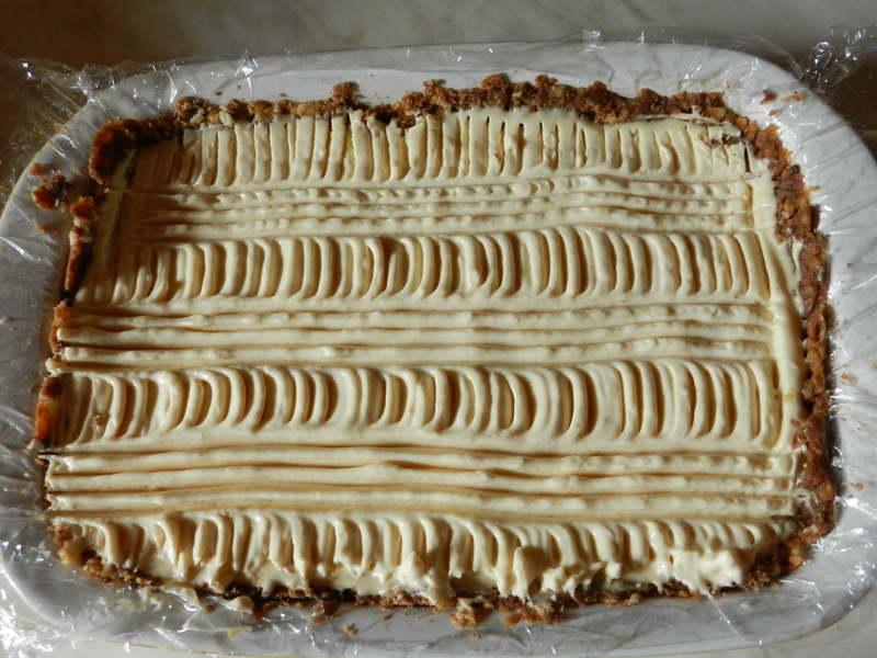 Opilý nepečený cheesecake