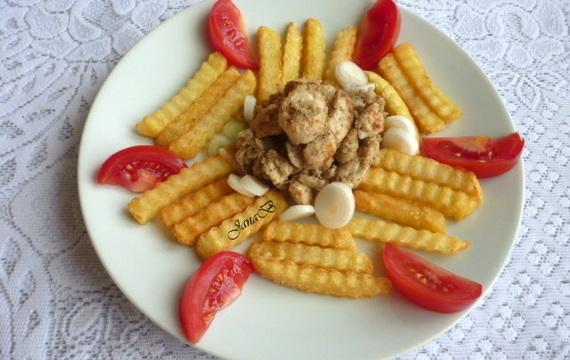Kuřecí nudličky s krémžskou hořčicí