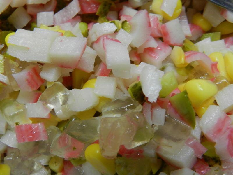 Krabí salát s aloe verou