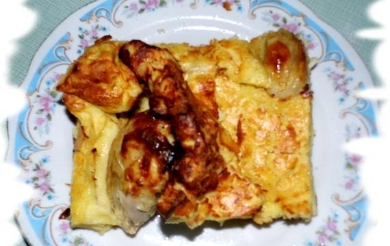 Kuřecí stehna zapečená v omeletovém těstíčku (recept po babičce)