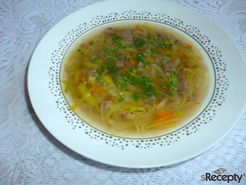 Pórková polévka s masem
