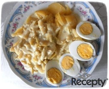 Sterilované fazolky na smetaně s vejci - Rox