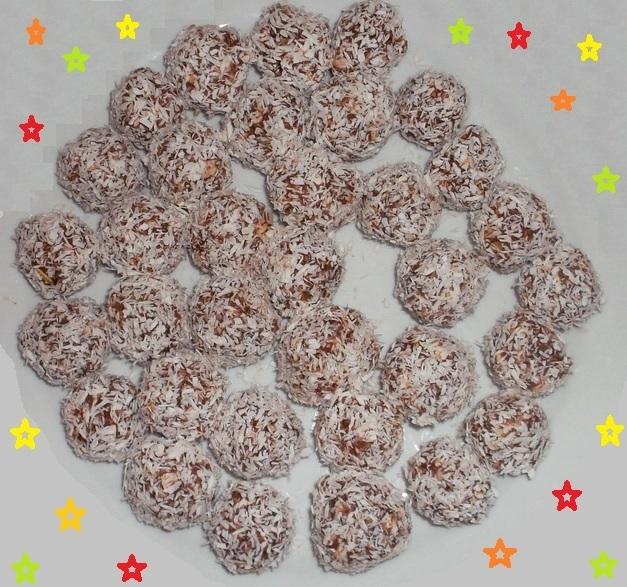 Kokosové kuličky (nepečené cukroví)