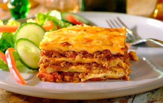 Lasagne s bešamelovou omáčkou