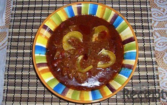 Dršťková polévka z kotrče