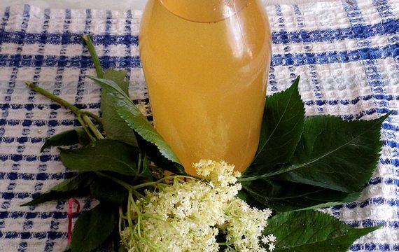 Limonáda z květů černého bezu