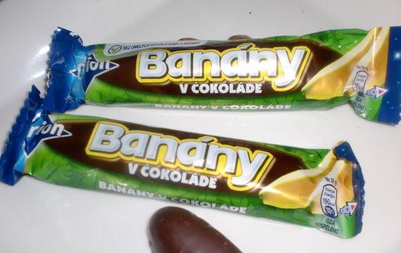 Banánek v čokoládě