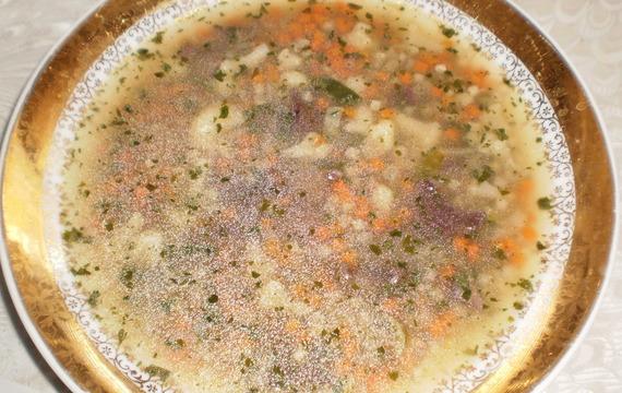 Houbová zeleninová polévka