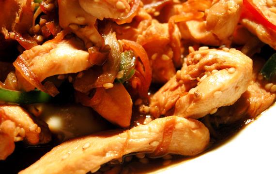 Lehké kuře se sezamovými semínky