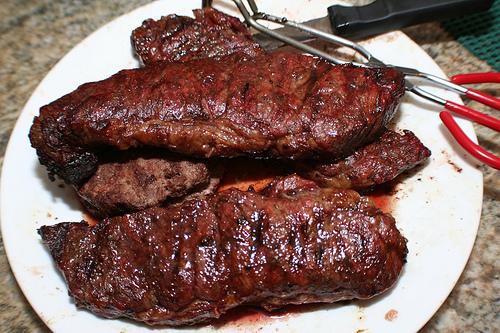 Marinované steaky ve whisky
