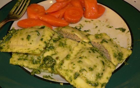 Ravioly s bylinkami