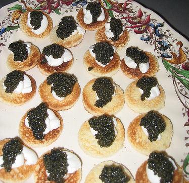Lívanečky s kaviárem