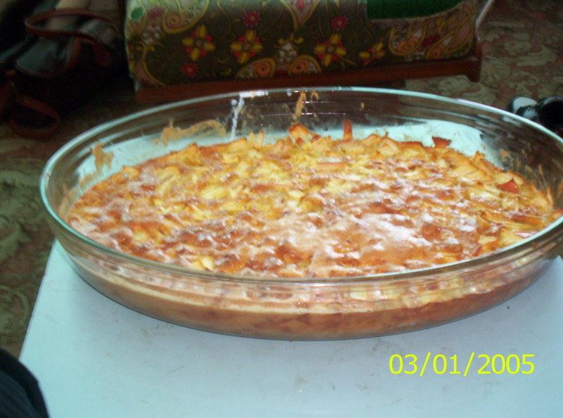 Koláč z  jablečných kostiček