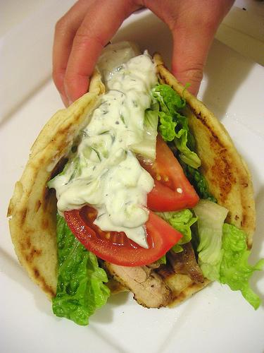 Skopový kebab v pita kapse