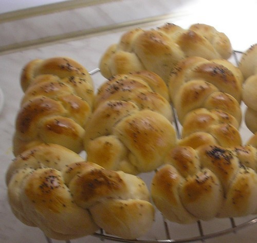 Sádlové housky z domácí pekárny