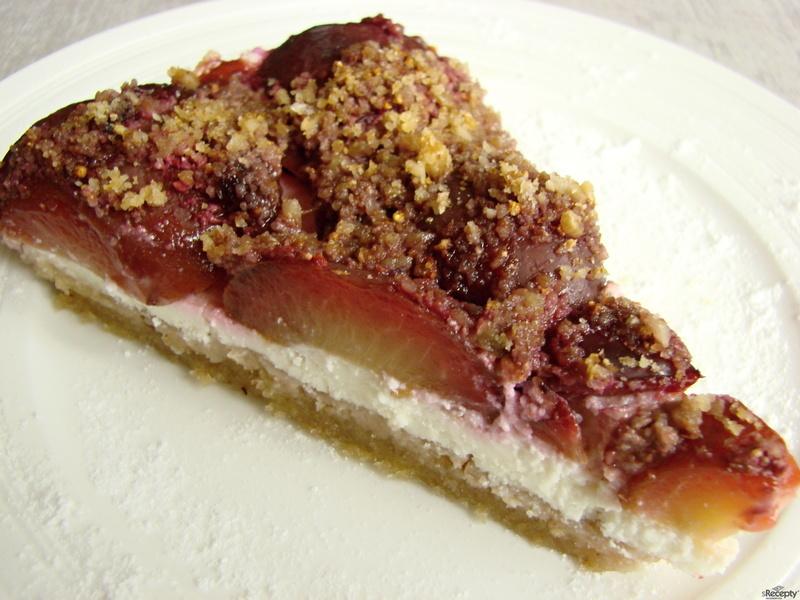 Švestkovo-tvarohový koláč