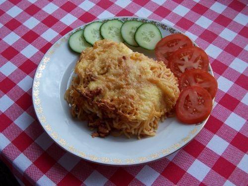 Zapékané špagety v domácí omáčce