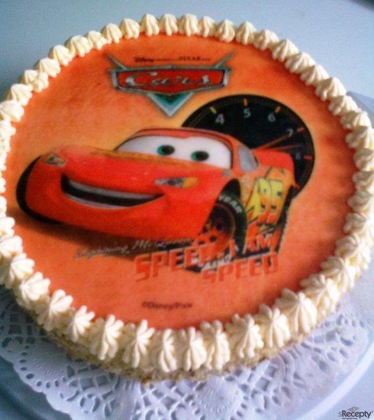Piškotový dort s krémem