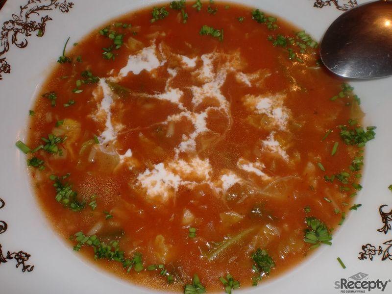 Kapustovo-rajčatová polévka