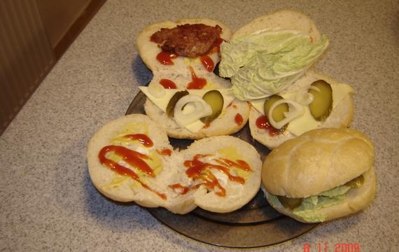 Domácí hamburgry