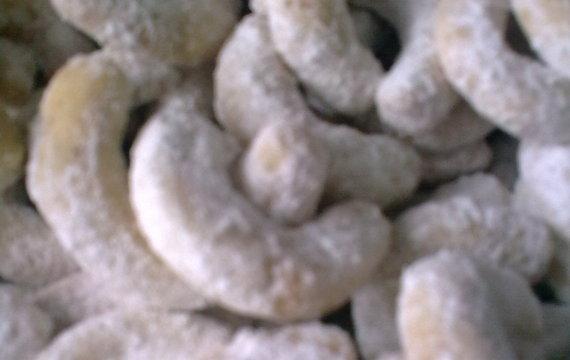 Světlé vanilkové rohlíčky