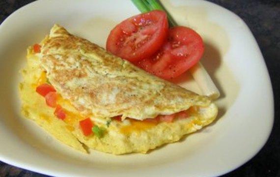Zapečená zeleninová omeleta