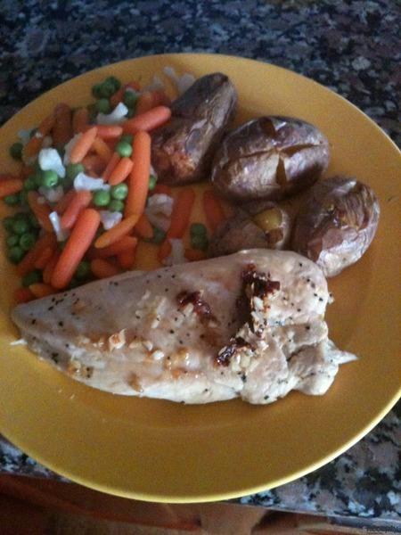 Kuřecí plátek s bazalkou a česnekem