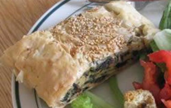 Záviny se sýrem a houbami