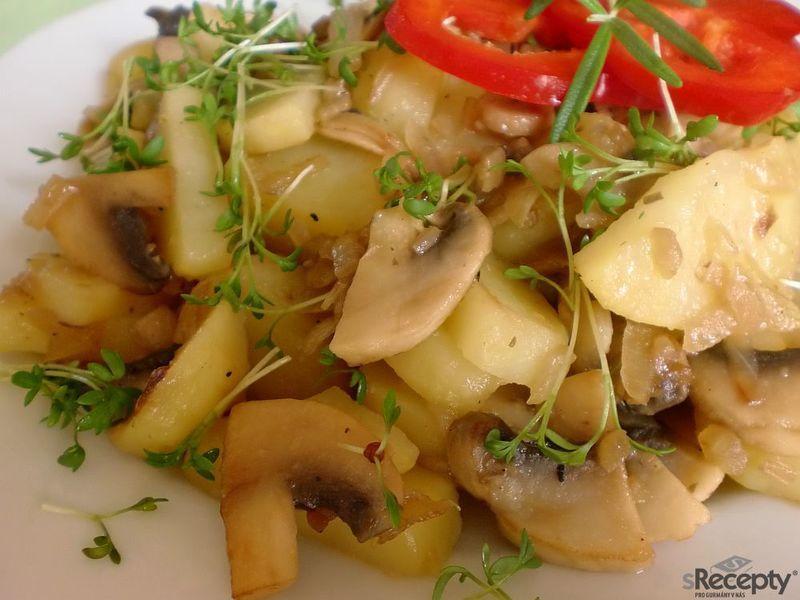 Žampiónové  brambory