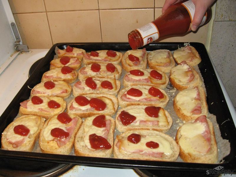 Zapečené chlebíčky