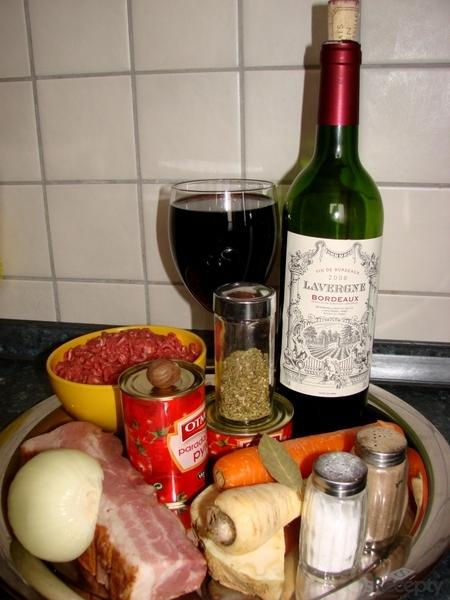 Boloňská omáčka s vínem