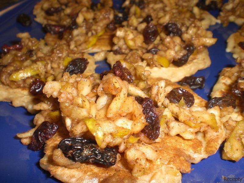 Rýžovo-sojové lívanečky s jablečnou směsí