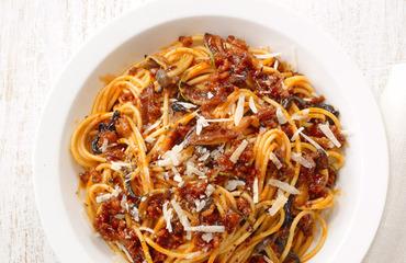 Žampionové špagety | sRecepty.CZ