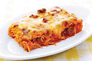 Zapečené špagety se smetanou
