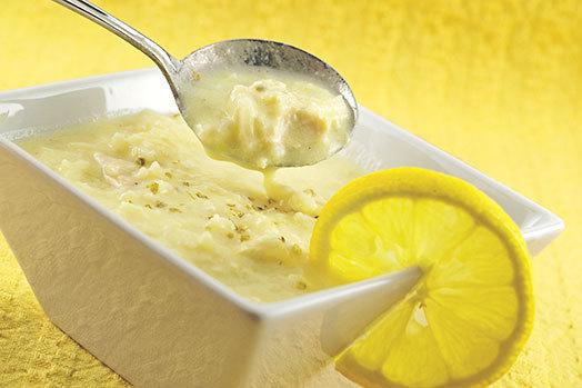 Citrónová polévka s vejci