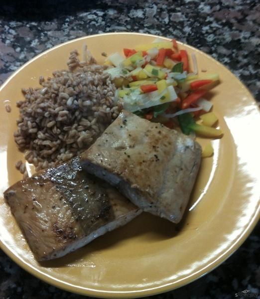 Pepřovo-limetkový steak z lososa