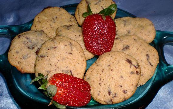 Medové sušenky s čokoládovými kousky