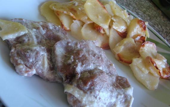 Zapékané maso se šlehačkou