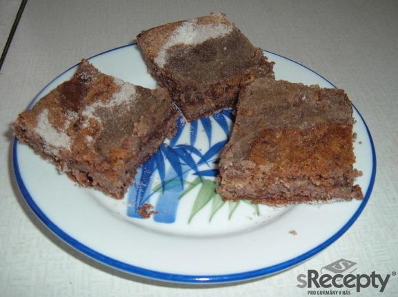 Sypaný koláč - kakaový