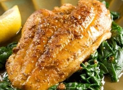 Ryba se špenátem