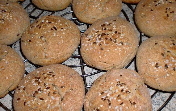 Plněné chlebánky z žitné mouky