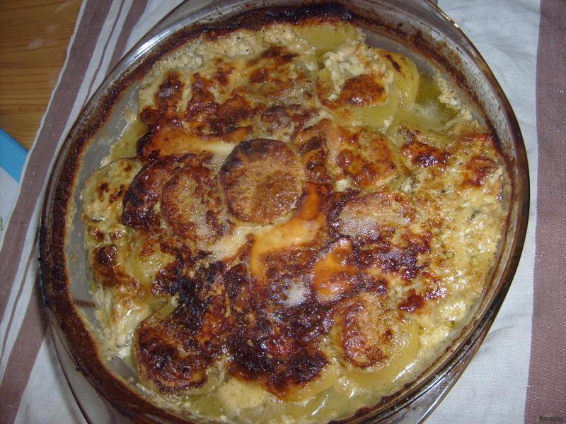 Zapečené hermelínové brambory