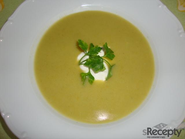 Krémová květákovo - brokolicová polévka