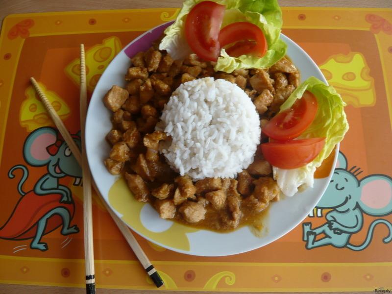 Pikantní kuřecí čína se sojovým masem