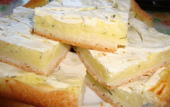 Kynuté smetanové koláče s koprem